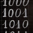 Stok fotoğraf: Blackboard with numbers