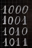 Blackboard with numbers — Stock Photo