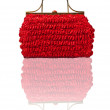 Red straw bag — Stock Photo