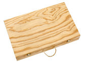 Wooden box for bottles of wine. — Stock Photo