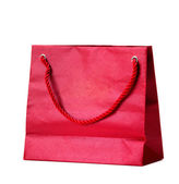 Red shopping bag. — Stock Photo