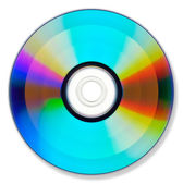 DVD or CD on white — Stock Photo