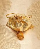 Altın çanta — Stok fotoğraf