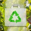 Stock Photo: Bag with recycle symbol.