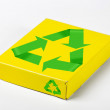 Stock Photo: Box with recycle symbols.