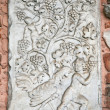 Basilica of Sant'Ambrogio (379-386), Milan, Italy: gravestone — Stock Photo