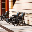 Stock Photo: Wheelchairs in hospital.