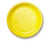 Empty yellow plate. — Stock Photo