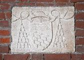 Basilica of Sant'Ambrogio (379-386), Milan, Italy: cardinal's co — Stock Photo