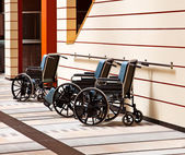 Wheelchairs in the hospital. — Stock Photo