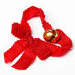 Stock Photo: Jingle bell with red ribbon