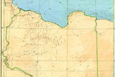 Old map (1929) of Libya — Stock Photo