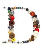 Alfabeto de botones: letra D — Foto de Stock