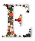 Buttons alphabet : letter E — Stock Photo