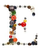 Buttons alphabet: letter E — Stock Photo