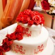 Foto de Stock  : Wedding cake with roses