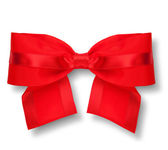 Red gift bow with shadow — Stock Photo