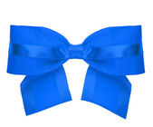 Blue gift bow. — Stock Photo