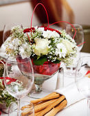Banquet table setting. — Stock Photo