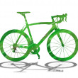 Green bicycle silhouette — Stock Photo