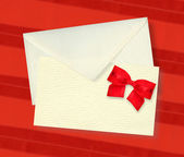 Beige card and envelope. — Stock Photo