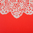 Stock Photo: Red paper with lacy