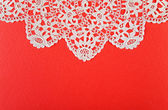 Red paper with lacy — Stock Photo
