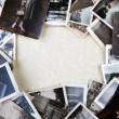 stack av gamla bilder — Stockfoto
