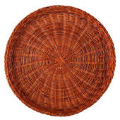 Wicker plate — Stockfoto