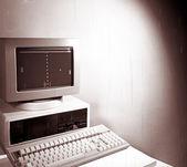 Vintage computer — Stock Photo
