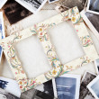 A pile of old photographs — Stock Photo