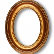 Golden oval frame — Stock Photo