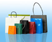 Several shopping bags. — Stock Photo