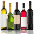 Group of five bottles — Stock Photo