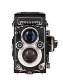 Twin lens reflex phot camera — Stock Photo