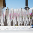 Empty glasses on a table — Stock Photo