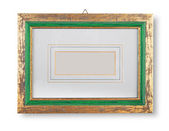Golden und greenframe — Stockfoto