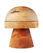 Wooden form for hats — Stock Photo