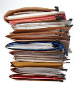 Stack of folders — Stock Photo