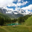 Cervinia, Valle d'Aosta, Italy (Lake blue) — Stock Photo #31007167