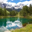 Stock Photo: Cervinia, Valle d'Aosta, Italy. Lake blue.
