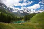 Cervinia, Valle d'Aosta, Italy (Lake blue) — Stock Photo