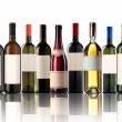 Group of nine bottles — Stock Photo