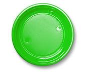 Empty green plate. — Stock Photo