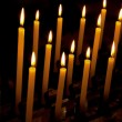 Alight candles — Stock Photo