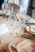 Table setting at a restaurant. — Stock Photo