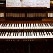 Detail of an organ in a church — Foto de Stock