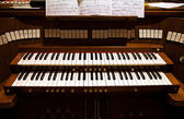Detail of an organ in a church — Stock Photo
