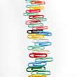 A row of colorful clips — Stock Photo