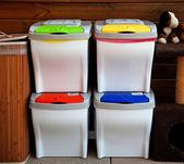 四个回收站 — 图库照片